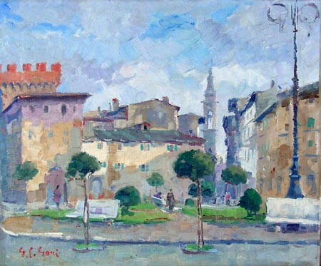 Art work by Gino Paolo Gori P.za V.Veneto (Montevarchi)AR - oil canvas