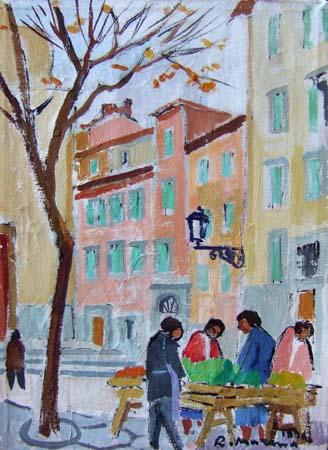 Art work by Rodolfo Marma Angolo di S. Spirito - oil canvas