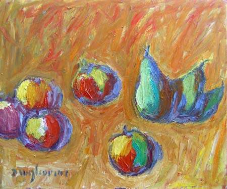 Art work by Dino Migliorini Frutta - oil hardboard