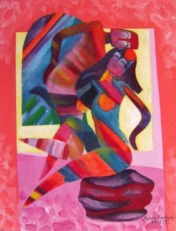 Art work by Ahmed Rashad Si, così... - oil canvas