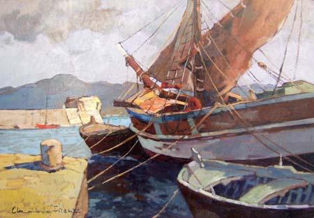 Quadro di Claudio da Firenze La Tartana - olio tavola
