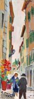 Quadro di Rodolfo Marma - Via delle Caldaie (Firenze) olio cartone