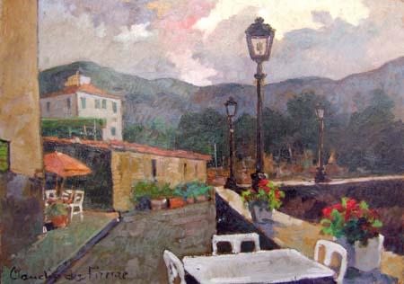 Quadro di Claudio da Firenze Lungomare M. Marina - olio faesite