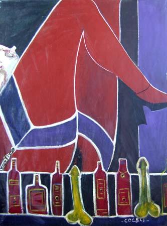 Quadro di Livio Cogoli Desideri - olio tela