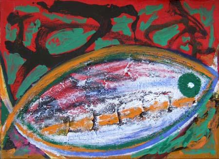 Art work by Livio Cogoli Il buco della balena - oil canvas