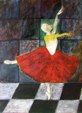 Quadro di Livio Cogoli La ballerina - olio tela