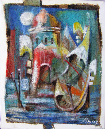 Art work by Lino Russo (Linor) Venezia - mixed canvas