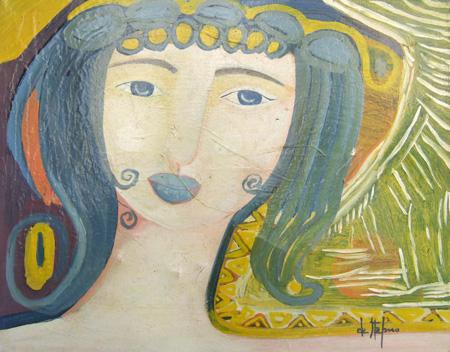 Quadro di Luigi De Stefano La mia Venere - olio tela