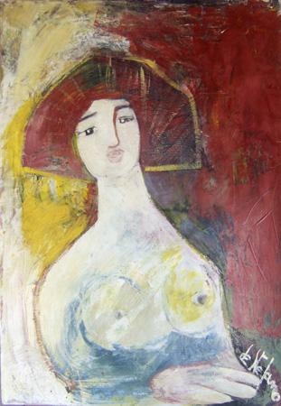 Quadro di Luigi De Stefano Tiziana - olio cartone
