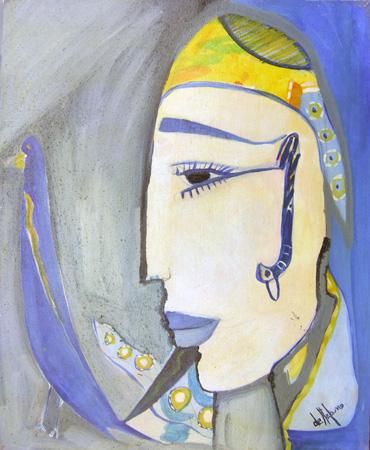 Quadro di Luigi De Stefano Padre di Aladino - olio tela