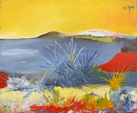 Art work by Luigi De Stefano Paesaggio italiano - oil canvas