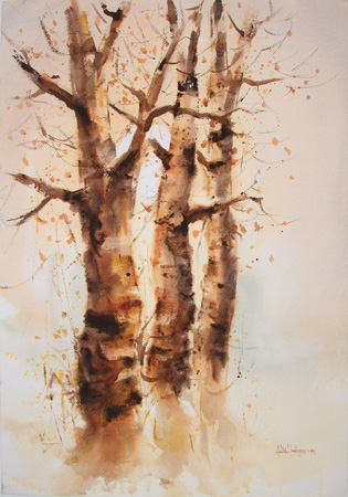 Art work by Heikki Laaksonen Alberi - watercolor paper