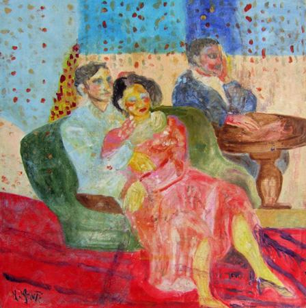 Quadro di Nada Monti Figure - olio tela