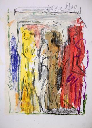 Quadro di  Kapel (Cappello) Figure - Pittori contemporanei galleria Firenze Art