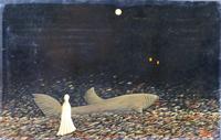 Quadro di Enrico Garavelli  Notte padana