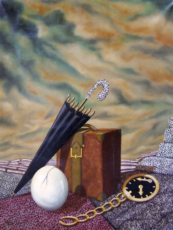 Art work by Enrico Garavelli Capolinea - oil canvas