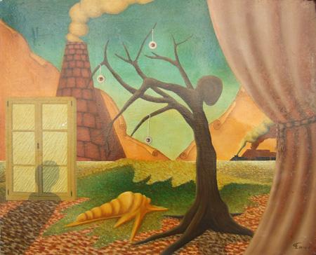 Quadro di Enrico Garavelli Pomeriggio d'autunno - olio tela