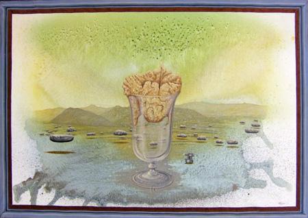 Quadro di Enrico Garavelli Miraggio - olio tela