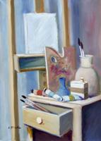 Quadro di Umberto Bianchini - La tela bianca olio tela