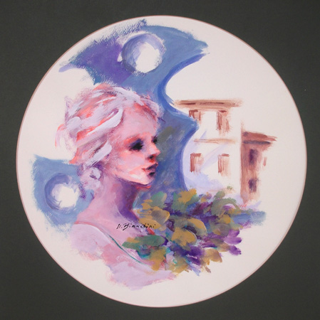 Artwork by Umberto Bianchini, varnish on paper | Italian Painters FirenzeArt gallery italian painters