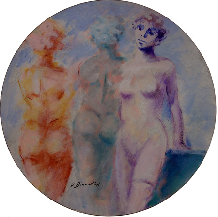 Art work by Umberto Bianchini Nudo - varnish paper