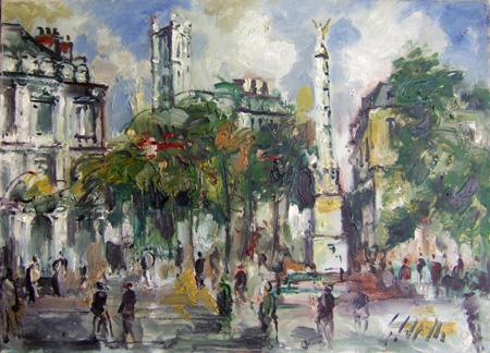 Art work by Emanuele Cappello Passeggiata - oil canvas