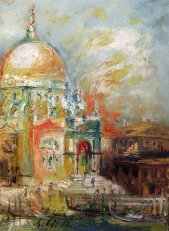 Art work by Emanuele Cappello Chiesa della Salute - oil canvas