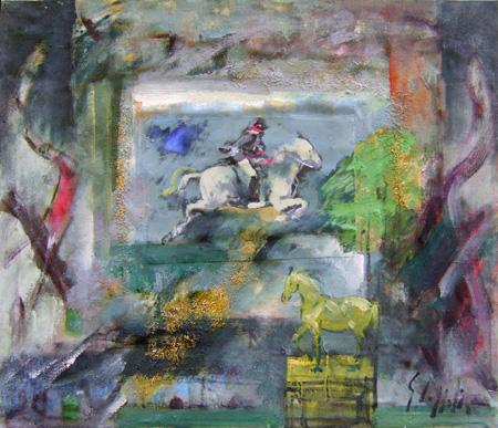 Quadro di Emanuele Cappello Amazzone - olio tela