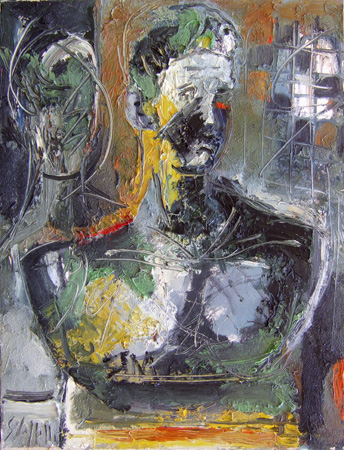 Quadro di Emanuele Cappello Busto antico - olio tela