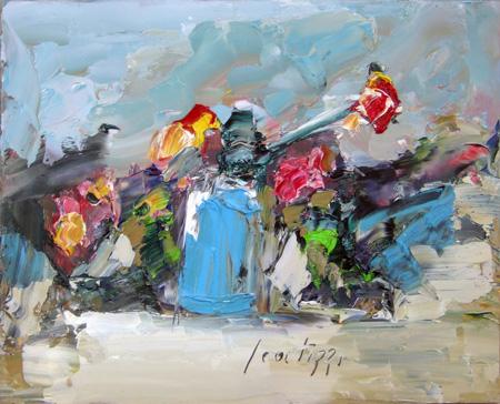 Quadro di Sergio Scatizzi Fiori - Pittori contemporanei galleria Firenze Art