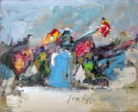 Work of Sergio Scatizzi - Fiori oil table