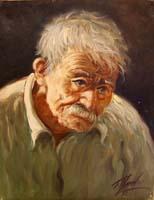 Quadro di Tristano Marchi - Ritratto di vecchio olio tela