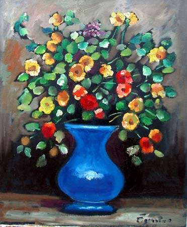 Art work by Luigi Pignataro Vaso di fiori - oil canvas