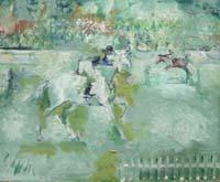 Quadro di Emanuele Cappello  Corse di cavalli