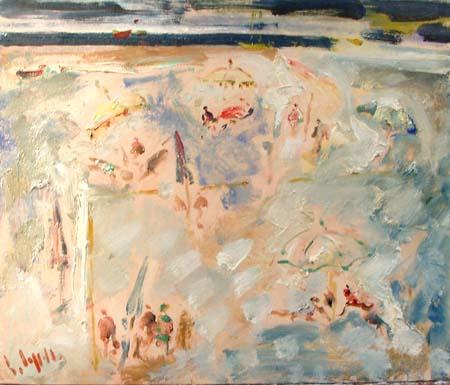 Quadro di Emanuele Cappello Spiaggia - olio tela