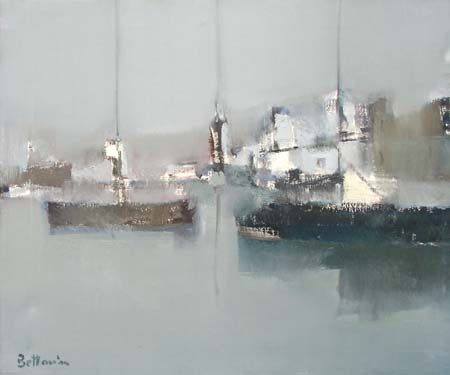 Art work by Lido Bettarini Barche sul mare - oil canvas