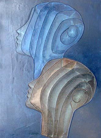 Quadro di  Uguccione Maternità, Magna Grecia - olio tela