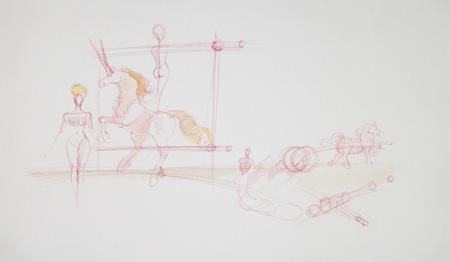Quadro di Claude Falbriard Composizione - mista carta