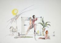 Quadro di Claude Falbriard  Figure
