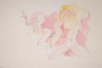Quadro di Claude Falbriard  Composizione erotica