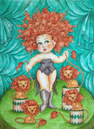 Quadro di Mariarita Brunazzi  Donna - mista carta
