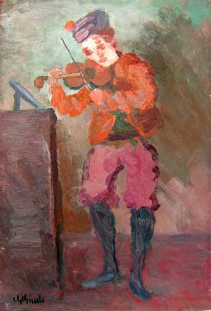 Quadro di Guido Guidi Violinista - Pittori contemporanei galleria Firenze Art