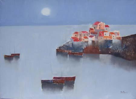 Quadro di Lido Bettarini Porto - olio tela