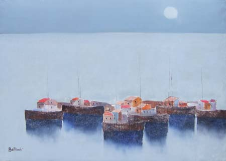 Quadro di Lido Bettarini Barche - olio tela