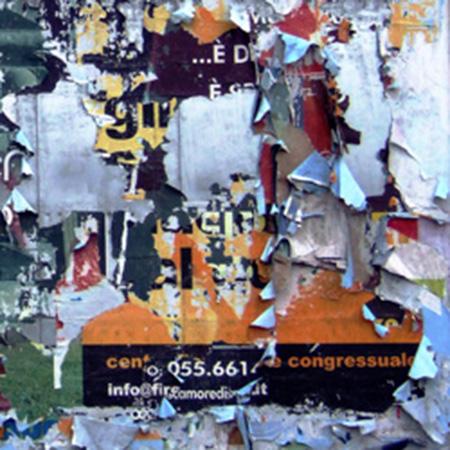 Quadro di Andrea Tirinnanzi Manifesti strappati dal vento - ink jet tela