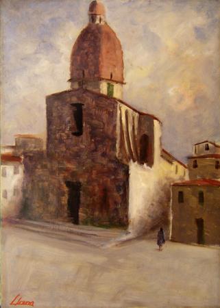 Quadro di Sereno Serena Chiesa del Cestello (Firenze) - olio faesite