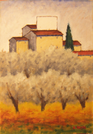 Art work by Ottone Rosai Campagna Toscana - oil plywood