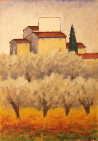 Quadro di Ottone Rosai Campagna Toscana - Pittori contemporanei galleria Firenze Art