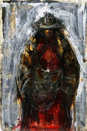 Quadro di Beppe Fabbrini Peruviana - Pittori contemporanei galleria Firenze Art