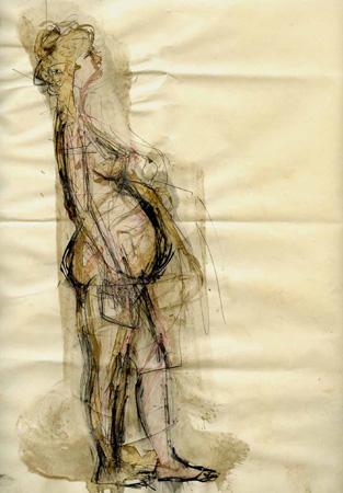 Quadro di Beppe Fabbrini Maternità - mista carta